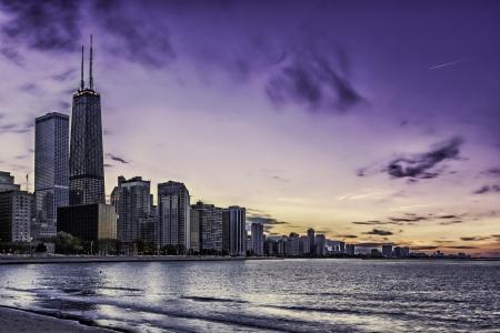 Downtown Chicago Magnificent Mile by dusk Reklamní fotografie