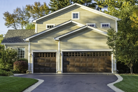 Traditional American Home with Garage