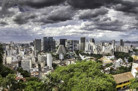 Dark clouds over Rio de Janeiro, Brazil photo