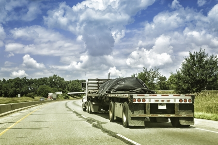 Oversize truck with trailer photo