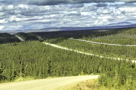 Dalton Highway and Trans-Alaska oil pipeline photo