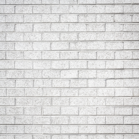 White brick wall for background or texture photo