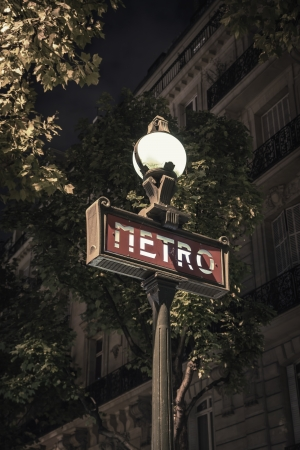 Metro sign in Paris- France photo