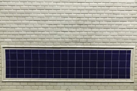 Metro station wall sign in Paris-France