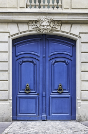 Wood Arch Entry Door In The Street Of Paris France Stock Photo
