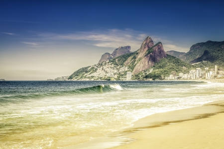 Ipanema beach in the morning, Rio de Janeiro Stock Photo