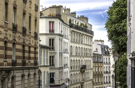 Typical apartment buildings in Paris ,France