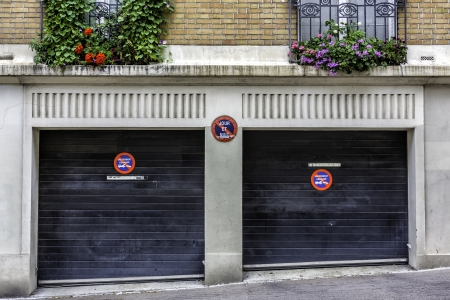 Two car garage in Paris, France photo