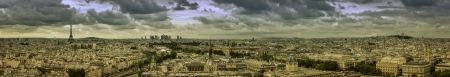 Paris panorama with scenic sky photo