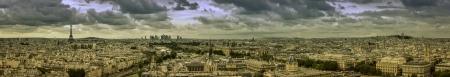 Paris panorama with scenic sky