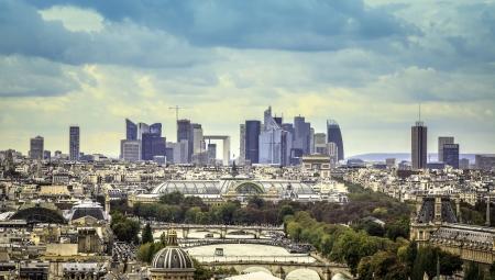 View of business district La Defence in Paris, France Banque d'images