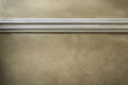 Wall with white molding Stock Photo