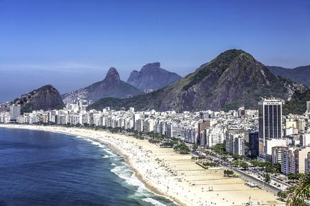 Copacabana Beach in Rio de Janeiro, Brazil photo