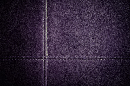 Leather stitched texture background photo