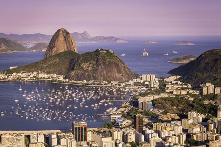 Sunset over Rio de Janeiro, Brazil photo