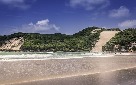 Ponta Negra dunes beach in Natal city,  Brazil photo