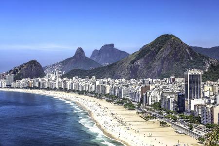 rio: Aerial view of Copacabana Beach in Rio de Janeiro, Brazil