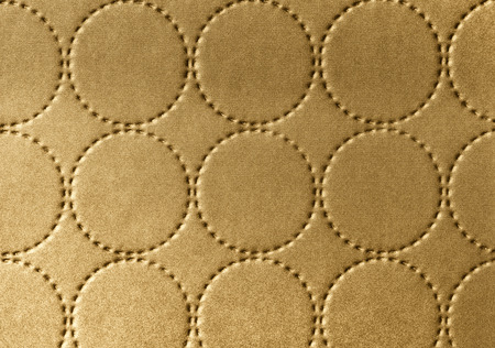 country house: Background of textile texture with circle pattern decoration Stock Photo