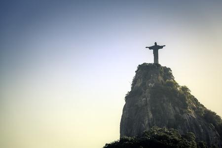 Christ the Redeemer looking at Rio de Janeiro, Brazil