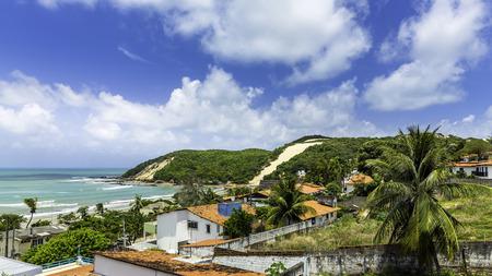 브라질 나 탈 시내의 Ponta Negra dunes 해변 스톡 콘텐츠
