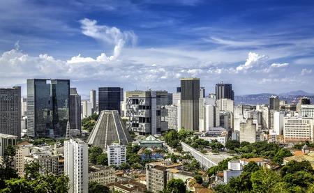 Financial center of Rio de Janeiro, Brazil Reklamní fotografie - 27412577