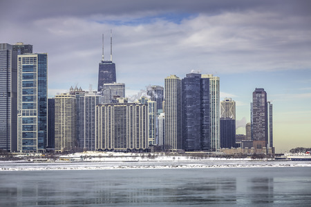 Downtown Chicago skyline view photo