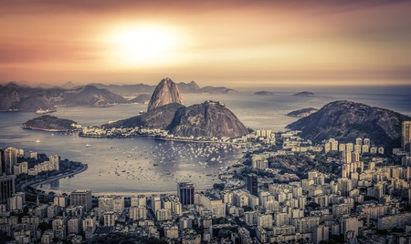 Sunrise panorama over Rio de Janeiro, Brazil photo