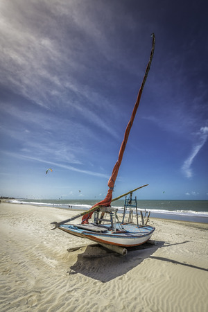 Fishing boat on the beach of Natal, Brazil photo