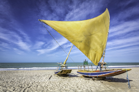 Fishing boat on the beach of Natal, Brazil