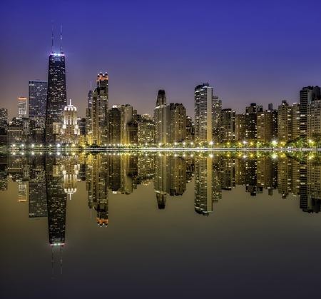 밤 시내 시카고 그니 피 센트 마일