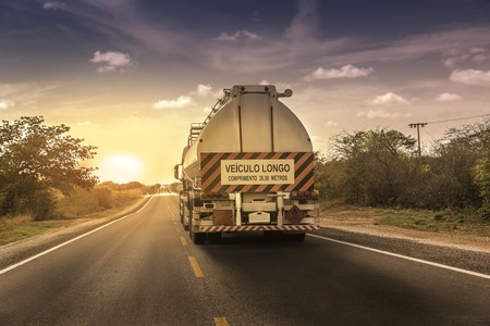oversize: Oversize truck with trailer in northern Brazil
