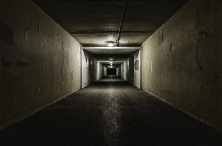 character traits: Empty tunnel at night