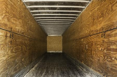Empty old truck trailer photo
