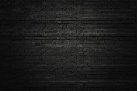 Black brick wall for background  Banque d'images