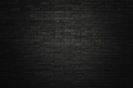 Black brick wall for background  Foto de archivo