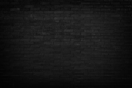 Black brick wall for background  Stok Fotoğraf