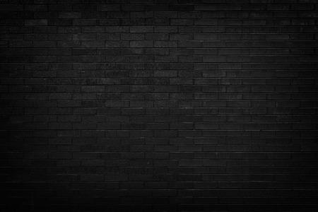 Black brick wall for background  Stockfoto