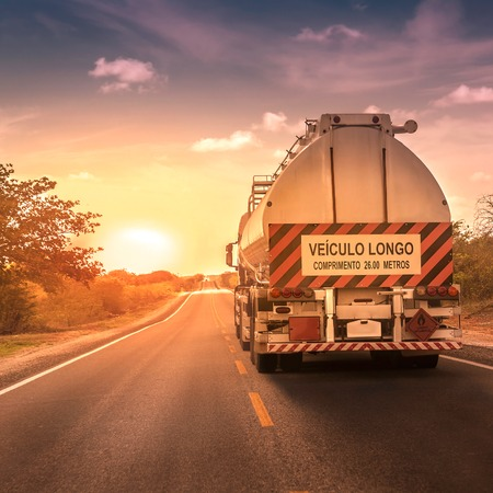 oversize: Oversize truck with trailer in Brazil Stock Photo