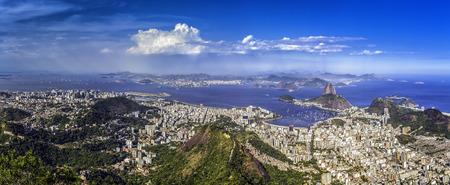 Day panorama of Rio de Janeiro ,Brazil