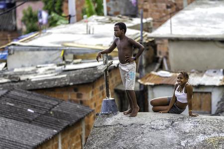 illiteracy: Life in Favela in Rio de Janeiro, Brazil