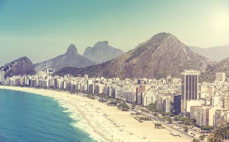 brazil beach: Copacabana Beach in Rio de Janeiro, Brazil