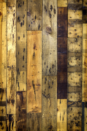 Wooden floor background with nails