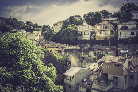 typical: Typical buildings in old part of Rio de Janeiro, Brazil Stock Photo