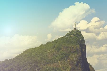 Corcovado Christ the Reedemer Statue in Rio de Janeiro, Brazil