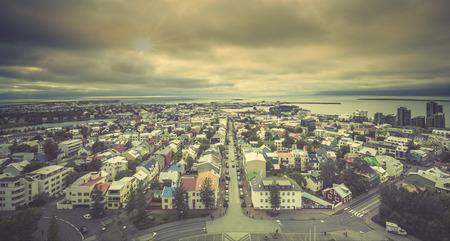 reykjavik: Reykjavik panorama, Iceland Stock Photo