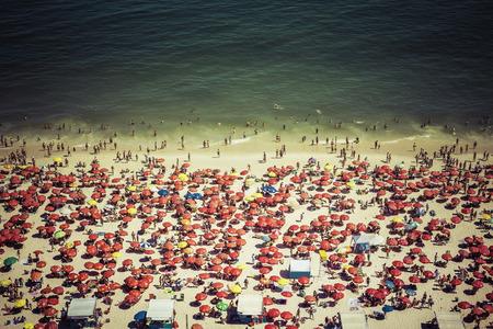 Crowded Copacabana beach in Rio de Janeiro, Brazil Zdjęcie Seryjne