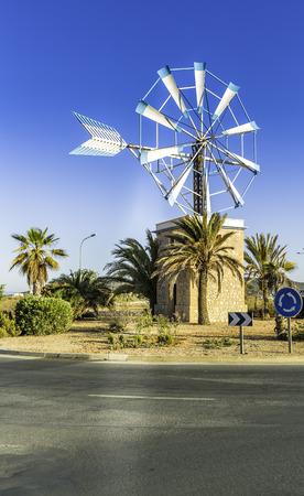 Old Spanish Windmill Landmark, Ibiza