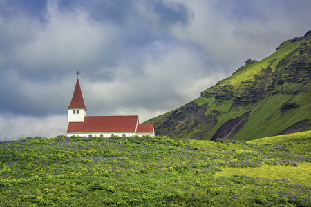 Church in Vik - Little Town in Southern Iceland photo