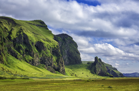 Icelandic mountain landscapes photo