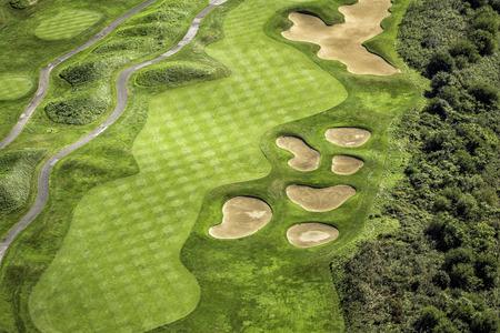 Veduta aerea del campo da golf Archivio Fotografico - 33274913